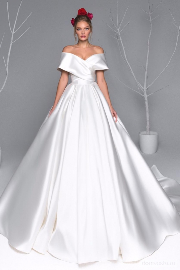 7e60f43f0c2 Атласные свадебные платья в Москве - купить платья с атласной юбкой ...